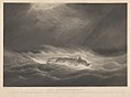 Ship Northumberland - in a Hurricane - on her voyage home from Calcutta - on 7th March 1839 RMG PY8506.jpg