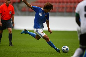 Shunsuke Nakamura - Nakamura playing for the national team.
