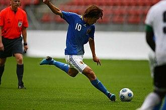 Shunsuke Nakamura - Nakamura playing for the national team.