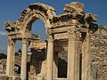 Side view of the Temple of Hadrianus at Ephesus.jpg