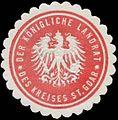 Siegelmarke Der K. Landrat des Kreises St. Goar W0382003.jpg
