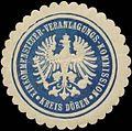 Siegelmarke Einkommensteuer-Veranlagungs-Kommission Kreis Düren W0342695.jpg