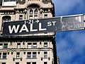 Sign Brodway crossing Wall Street.JPG