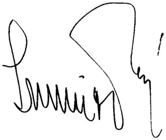 Pál Schmitt - Image: Signature of Pál Schmitt