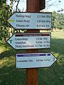 Signs of hiking trails. - Tihany Peninsula, Hungary.JPG