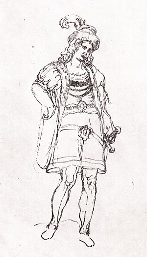 Simon I Gurieli - Simon Gurieli, a sketch from Teramo Castelli's travelogue.