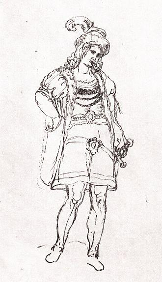Simon I Gurieli - Simon Gurieli, a sketch from Teramo Castelli's travelogue.