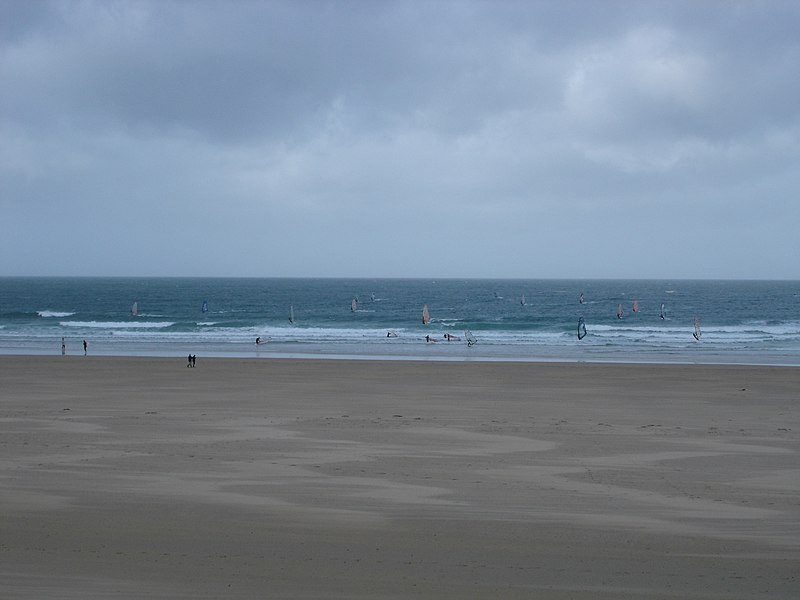 Windsurfers in Siouville-Hague