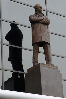 Sir Alex Ferguson statue at Old Trafford
