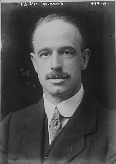 Eric Drummond, 7th Earl of Perth Scottish diplomat, Secretary General of the League of Nations