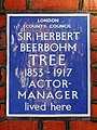 Sir Herbert Beerbohm Tree 1853-1917 Actor-Manager lived here.jpg