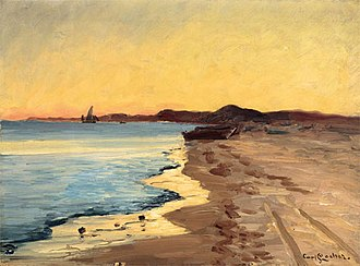 Carl Locher - Image: Skagen South Beach. October after sunset (Carl Locher)