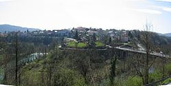 Slunj, panoramic view on the town from Napoleonic arsenal.JPG