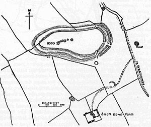 Small Down Knoll - Plan of earthworks at Small Down Knoll