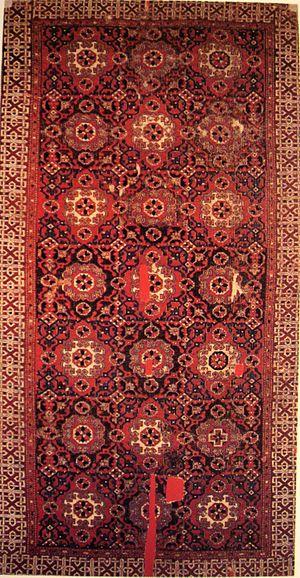 Holbein carpet - Type I small-pattern Holbein carpet, Anatolia, 16th century.