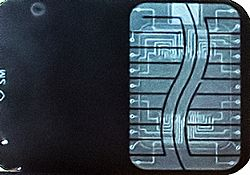 A radiograph of SmartMedia card.