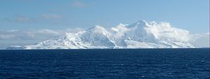 Imeon Range - Southern Imeon Range from Osmar Strait, with Mount Foster on the right.