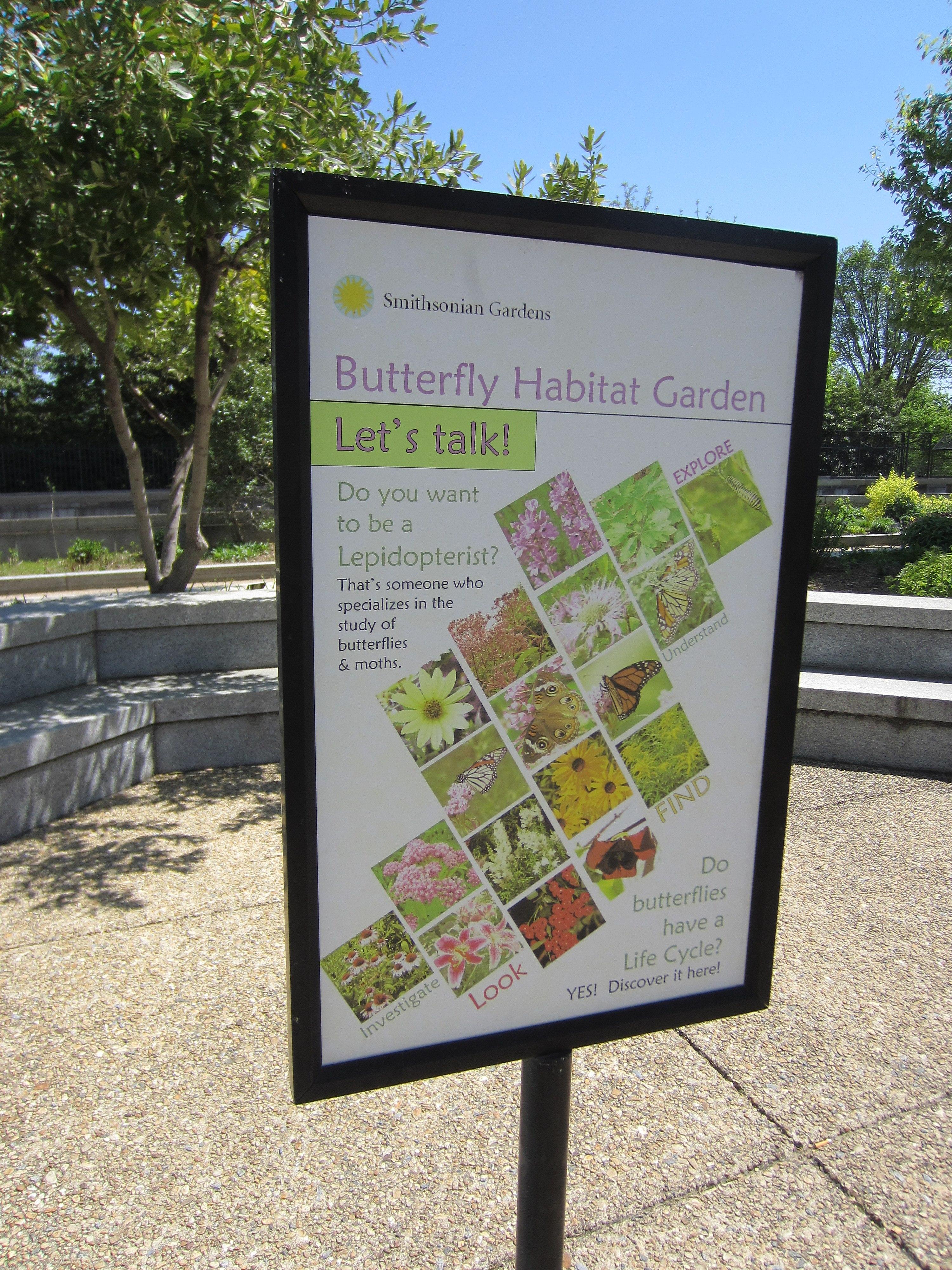 File:Smithsonian Garden   Butterfly Habitat Garden, Washington, D.C.  2013.JPG