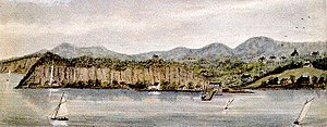 Palisades, New York - Snedens Landing by Robert Knox Sneden, 1858