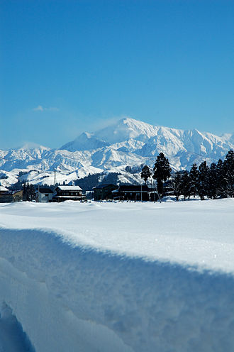 Geography of Japan - A village in Niigata Prefecture in January