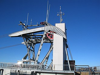 Snowbird, Utah - Snowbird, Utah tram top station, mechanical details