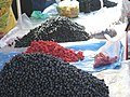 So much painstaking work, Blackcurrants and Raspberries for sale - panoramio.jpg