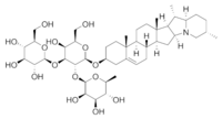 Solanine chemical structure.png
