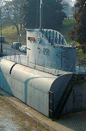La sezione centrale del sommergibile Andrea Provana, collocata al parco del Valentino presso la sede torinese dell'ANMI.