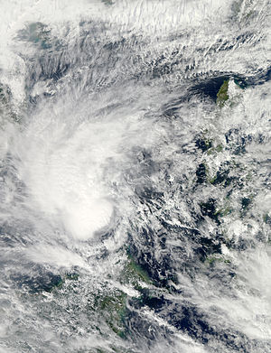 Timeline of the 2013 Pacific typhoon season - Sonamu shortly after being classified as a tropical storm on January 4