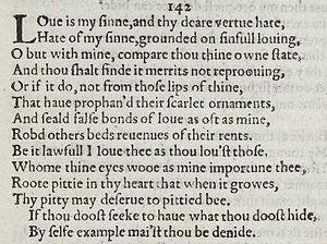 Sonnet 142 - Image: Sonnet 142 1609