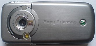 Sony Ericsson K700 - The camera lens is on the back side of the K700.