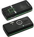 Sony Ericsson K850 (Luminous Green), front and back.jpg