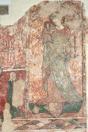 Lullay, mine liking - Madonna and Child in a 14th century wall painting, Oxfordshire.