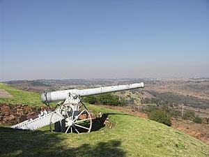 Long Tom (cannon) - A 155 mm Creusot Long Tom replica at Fort Klapperkop outside Pretoria