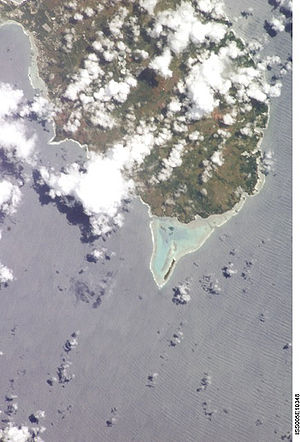 Southern part of Guam from space
