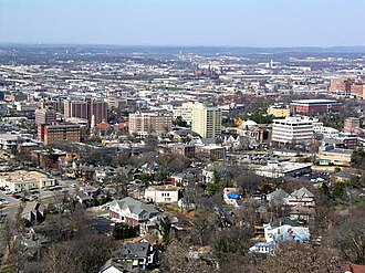 Timeline of Birmingham, Alabama - Image: Southside skyline in Birmingham, Alabama