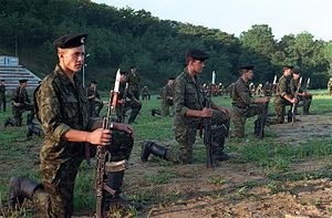 Naval Infantry (Russia) - Soviet Naval Infantrymen during a demonstration in 1990.