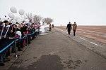 Soyuz MS-08 backup crewmembers at the airport in Baikonur.jpg