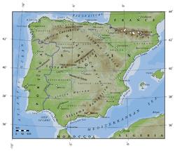 La Spagna Cartina Fisica.Geografia Della Spagna Wikipedia