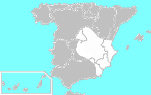 Catalonia Offensive - Spain after the conclusion of the Catalonia Offensive. Nationalist Spain is in gray and Republican Spain is in white.