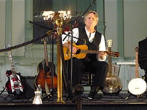 Spencer Bohren - Spencer Bohren performing as part of his Down the Dirt Road Blues lecture-performance at the G.A.R. Hall in Peninsula, Ohio United States.