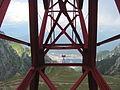 Stâlpul 5-Telecabina Bușteni-Babele-Vedere spre Stâlpul Periculos și Bușteni.JPG
