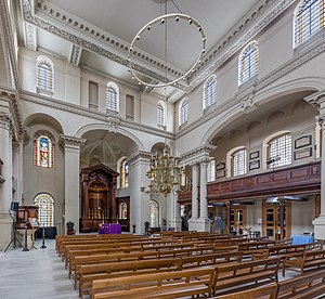 St George's, Bloomsbury - The interior