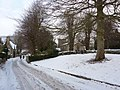 St Anne's Church and footprints in the snow - geograph.org.uk - 1654450.jpg