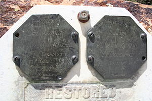 Mount Saint Helena - Replicas of a plaque left by Russians on Mount Saint Helena
