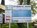 St Mary's Church, Wyke, Sign - geograph.org.uk - 1286825.jpg