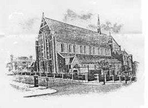 St Paul's Church, Harringay -  Image of St. Paul's church, Wightman Road, Harringay, London, N4; as seen c. 1930.