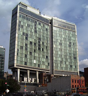 The Standard, High Line - View of the hotel from the southwest