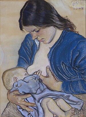 Stanisław Wyspiański - Motherhood, 1905