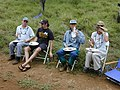 Starr-030409-0047-Cenchrus ciliaris-fence blessing with Fern Mike Kim and Diana-Puu o Kali-Maui (24262529419).jpg